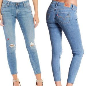 Levi's 535 Super Skinny Heart Star Ankle Jeans